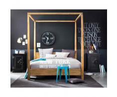 Juego de cama de algodón gris 220 x 240 cm STREET GRAPHIC
