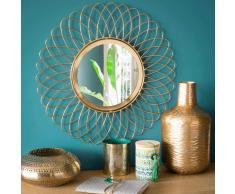Espejo redondo de metal dorado D 46 cm LUMPUR
