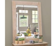 Espejo lacado de madera de paulonia Al. 120cm NATURA
