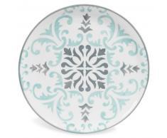 Plato llano de loza azul/gris HECTORINE