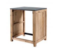 Mueble de cocina de pino reciclado para lavavajillas An. 74 Pagnol