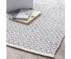 Alfombra de algodón gris 60 × 90cm TAVIRA