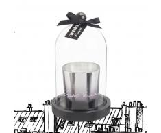 Vela perfumada plateada bajo campana de cristal Chantal Thomass