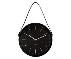 Reloj de pared de metal negro