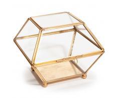 Joyero de cristal y metal dorado ANTIQUA