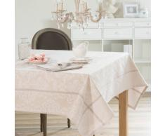Mantel con brillo de tela beis 150 x 250 cm PLESSY