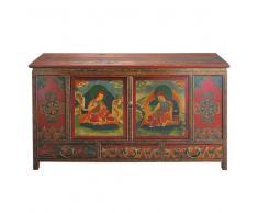 Cajonera india de madera de colores An. 120 cm Lhasa