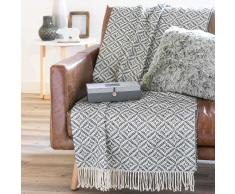 Colcha de sofá azul/blanca TRIESTE