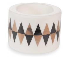 Candelabro de porcelana H 5 cm MODERN ARLEQUIN