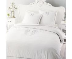 Juego de cama 220 x 240 cm de algodón blanco ANGE