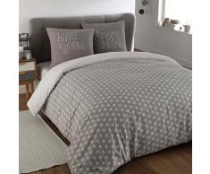 Juego de cama 220 × 240cm de algodón gris KIMONO
