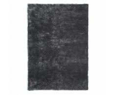 Alfombra de pelo largo de tela gris 140 x 200cm LUMIERE