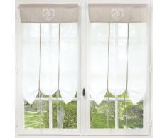 Cortina corta de algodón crudo 60 x 110 cm CAMILLE