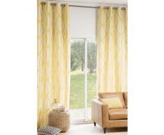 Cortina de ojales amarilla/blanca 140 × 300cm HYPNOSIS