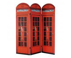 Biombo de madera rojo An. 150 cm CABINE UK