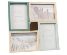 Marco para 4 fotos de 10x15 de pino verde