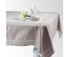 Mantel de tela gris 150 x 250 cm CHÂTELAINE