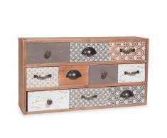 Caja con 10 cajones de imitación a madera con motivos SANDRINE