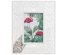 Marco de fotos de 10x15 de metal blanco con motivo de hojas
