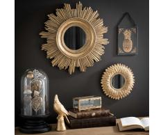 Espejo dorado redondo D 44 cm BURTON
