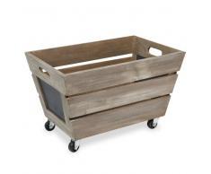 Caja de madera con ruedas RUSTIC