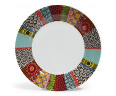 Plato llano de porcelana de colores Diám. 27 cm JANEIRO