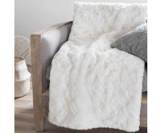 Colcha imitación piel blanca 150 x 180 cm ANASTASIE