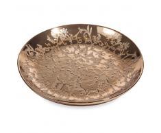 Fuente decorativa de cerámica dorada D 36 cm MILORD