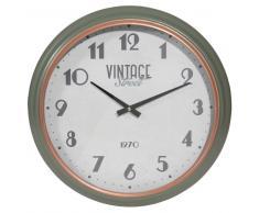 Reloj de metal D 42 cm VINTAGE STREET