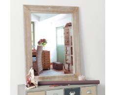 Espejo lacado de madera de paulonia Al. 90cm NATURA