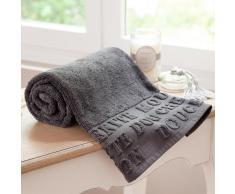 Toalla de baño gris de algodón 50 × 100 cm MODERN