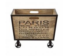 Caja de madera de mango con ruedas 38 × 50cm GILMORE