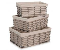 3 cestas trenzadas rectangulares
