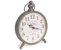 Reloj metálico de mesa alt. 24 cm JULIETTA