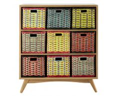 Mueble cajonera vintage de caoba An. 85 cm Yoko