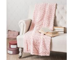 Manta de imitación de piel rosa 125 x 150cm LILAS