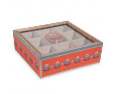 Caja de té de madera 24 x 24 cm VINTAGE ADDICT