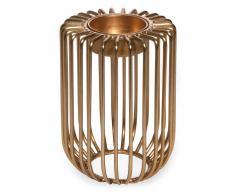 Candelabro de metal dorado H. 10 cm SOLO