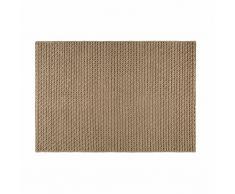 Alfombra de lana y algodón marrón 160x230 cm MOJAVE