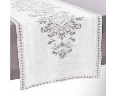 Camino de mesa de lino blanco 48 x 150 cm ELIZABETH
