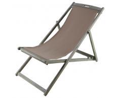 Tumbona/silla de playa plegable de acacia agrisada L. 111 cm Panama