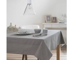 Mantel de tela gris antracita 140 x 250 cm ÉTINCELLE