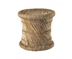 Taburete trenzado de fibra natural y bambú MOGALE