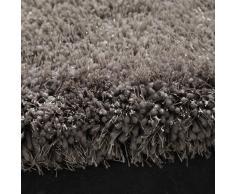 Alfombra de pelo largo gris 160 × 230cm POLAIRE