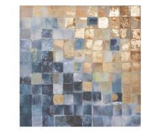 Lienzo 80 x 80 cm BLUE & YELLOW SQUARES