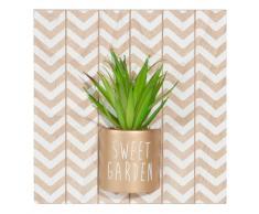 Cuadro con planta artificial 25x25 cm SWEET GARDEN