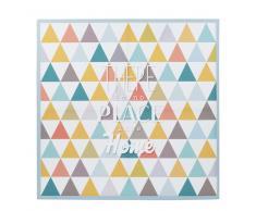 Lienzo con motivos triangulares de colores 70 x 70 cm VINTAGE