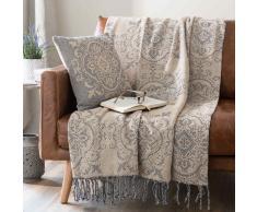 Colcha de sofá de algodón con franjas 130x170 cm AUGUSTA