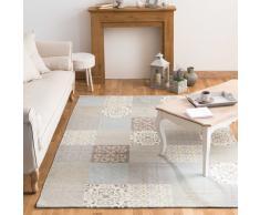 Alfombra con motivos de azulejos de cemento 140 x 200 cm PROVENCE