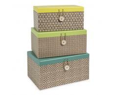 3 cajas rectangulares de cartón An. 23/25/27 cm JUNGLE SPIRIT